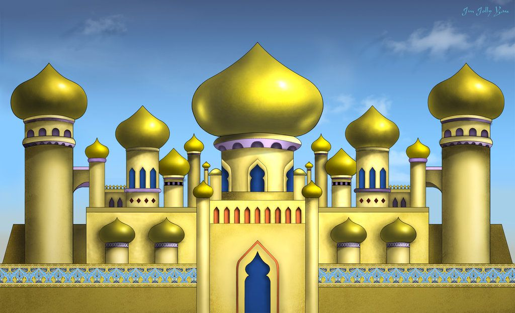 Stock Aladdin Arabian Palace Backdrop Aladdin Castle Clipart