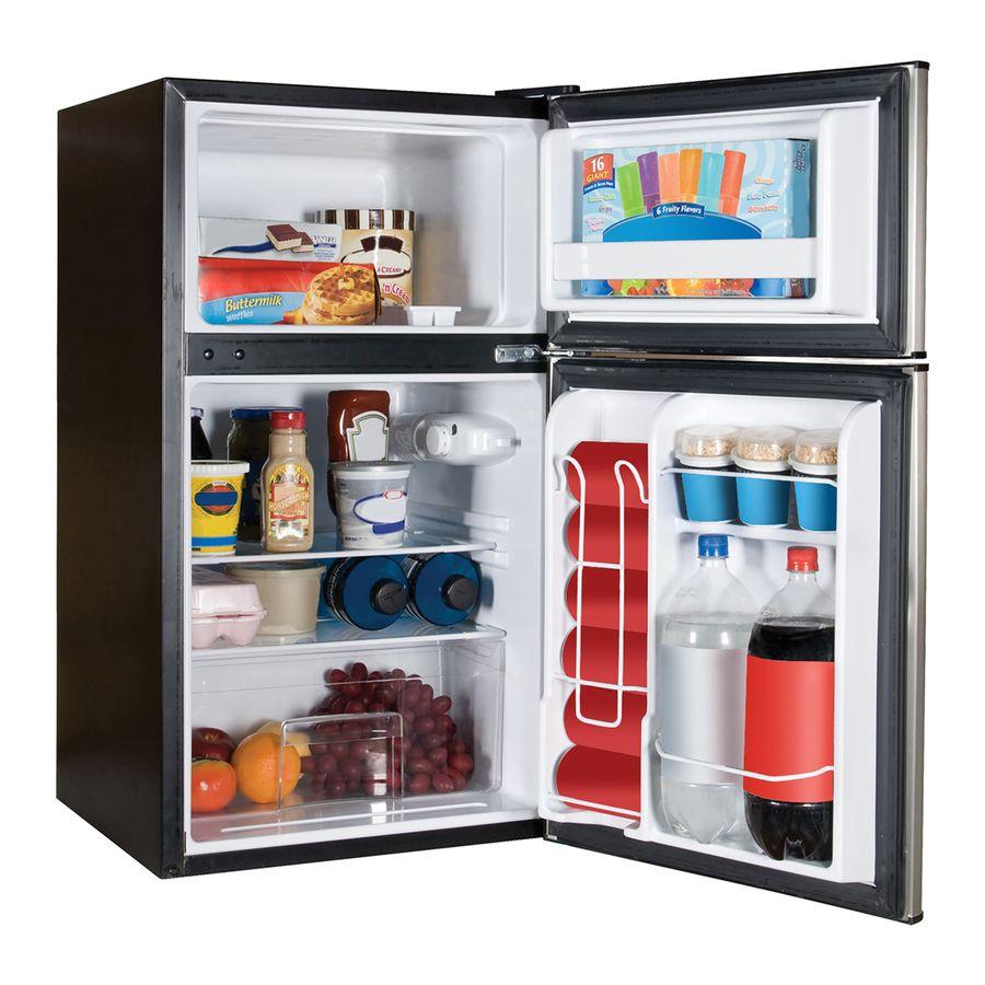 Haier 3 2 Cu Ft Freestanding Mini Fridge Virtual Steel Lowes Com Small Refrigerator Refrigerator Sale Compact Refrigerator