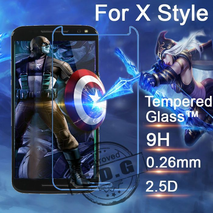 0.26mm 9H Explosion Proof Anti scratch LCD Tempered Glass Film For Motorola MOTO X Style XT1570 Screen Protector Film