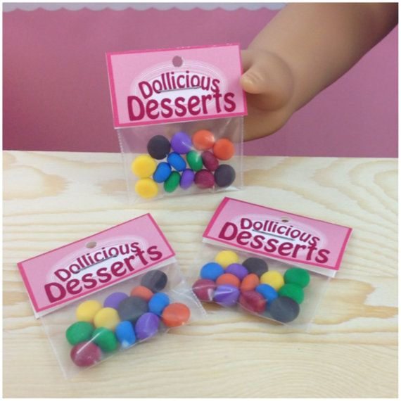 DD's Mini Candies Rainbow Mix for American Girl Dolls - Dollicious Desserts by Dollicious Darlings Easter Treats M&Ms