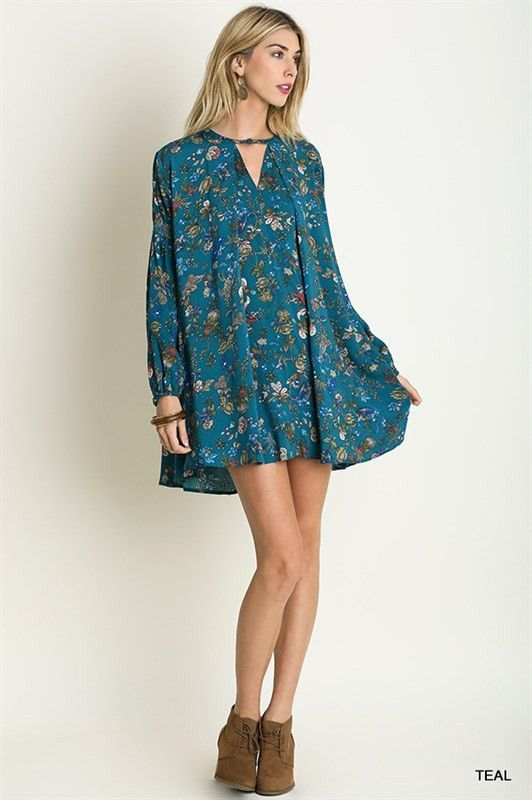 Never Miss a Beat Trapeze Dress in Teal