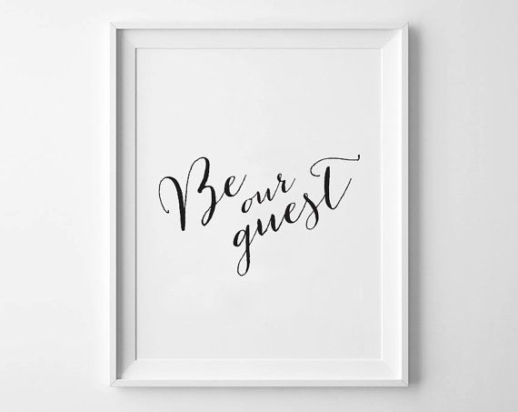 image about Be Our Guest Printable named BE OUR Visitor - Fast Obtain - 8x10 - 11x14 - Printable