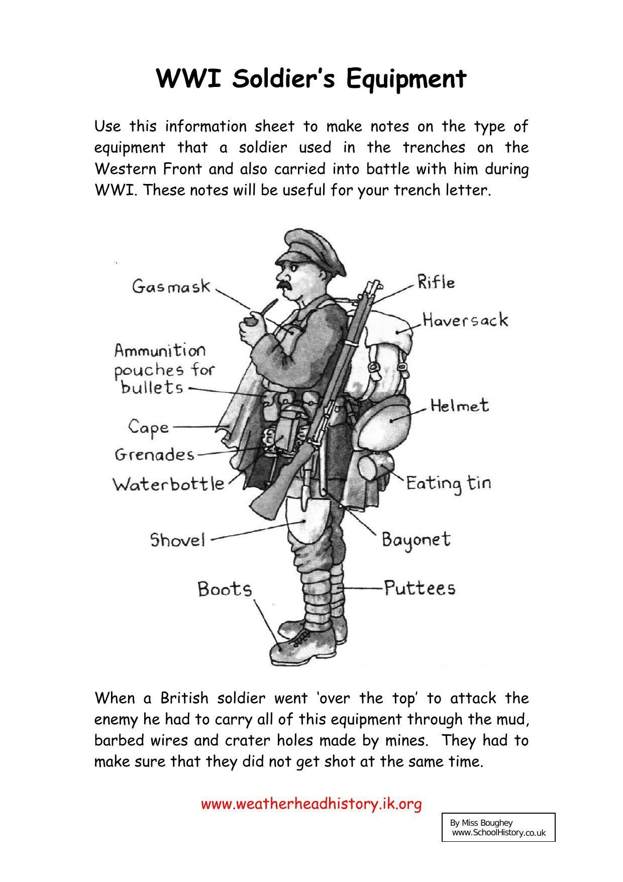 New World War 1 Worksheets