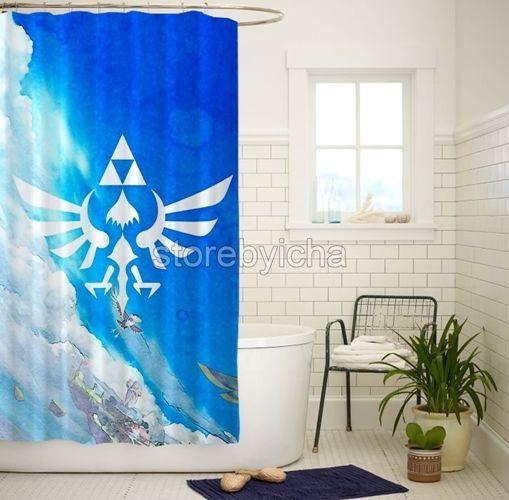 Details About Pokemon And Legend Of Zelda Waterproof Bathroom