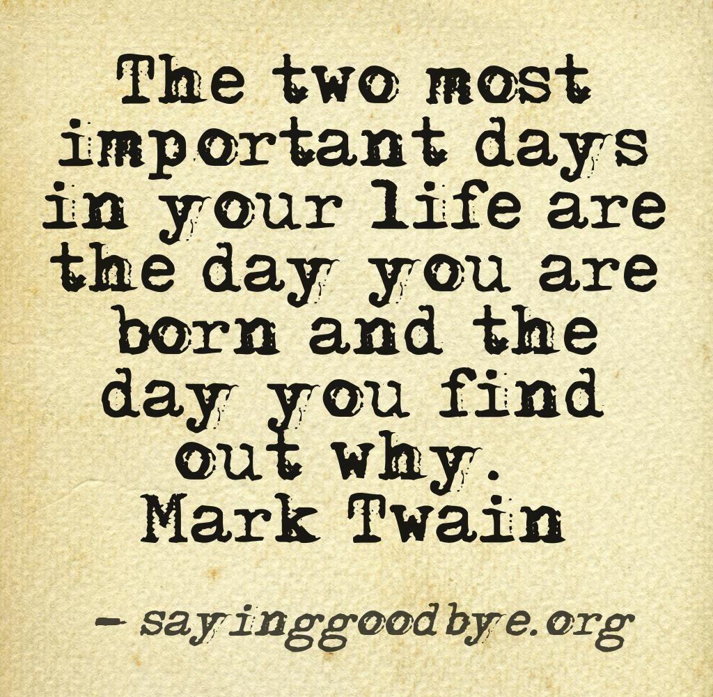 The two most important days