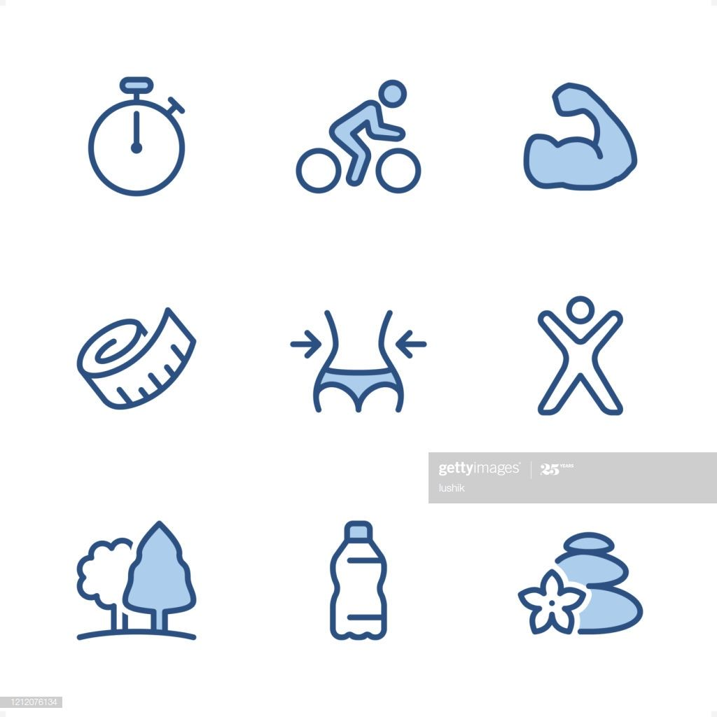 Fitness Pixel Perfect Blue Icons Illustration #Ad, , #AD, #Perfect, #Pixel, #Fitness, #Illustration
