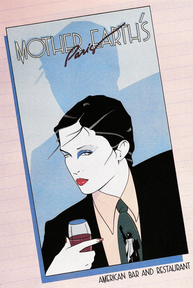 Patrick Nagel, MotherEarth's Paris, 80s  Serigraph Limited-edition Pposter