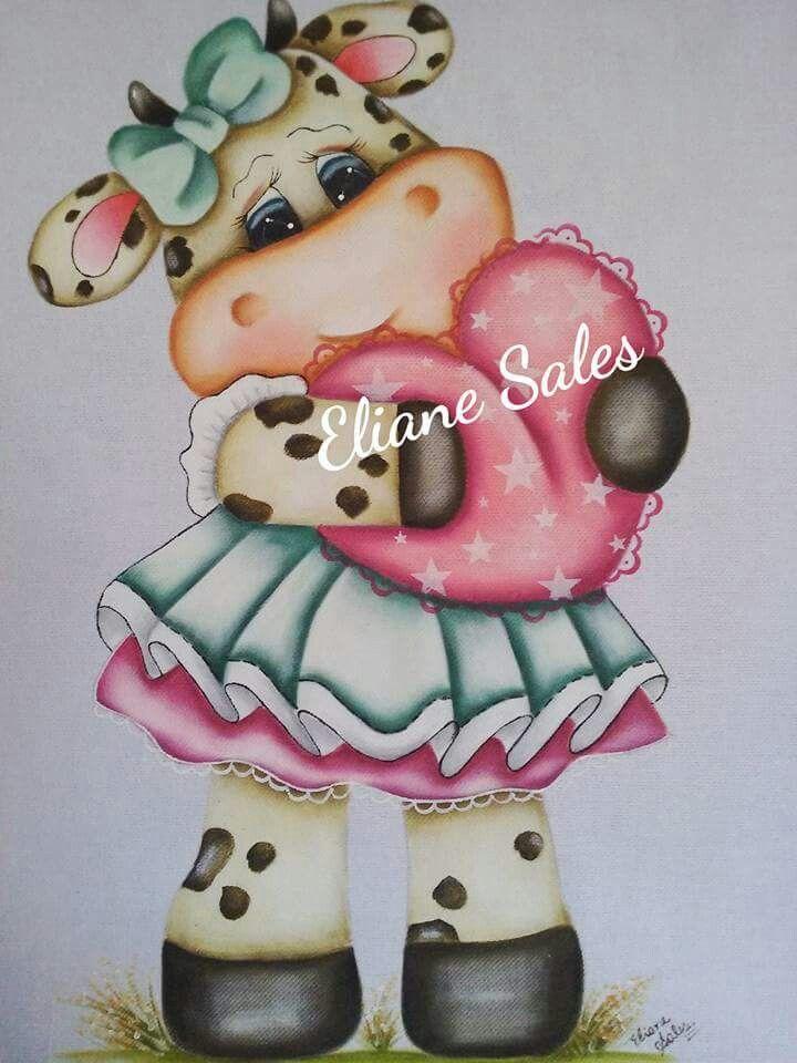 Pin de Dellie Terrell en tole painting | Pinterest | Vaca, Pinturas ...
