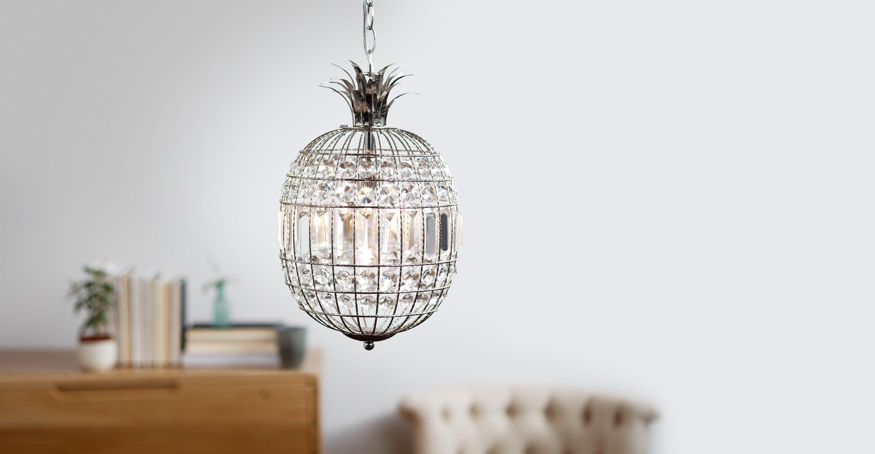 Miranda Pendelleuchte, Klarglas und Nickel   Design leuchten ...