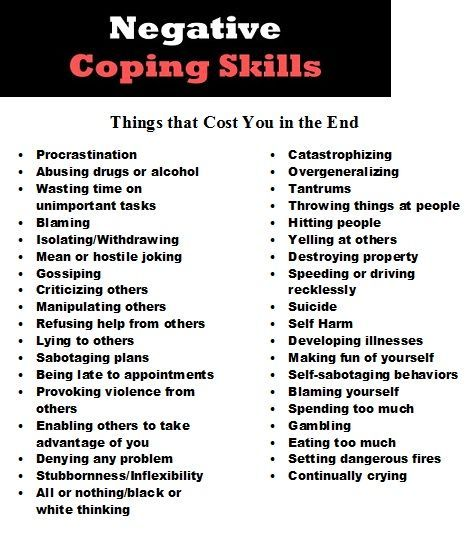 coping strategies for life The ways of coping questionnaire (ways) is used to measure the coping processes as the definitive coping measure, the ways can assess and identify.