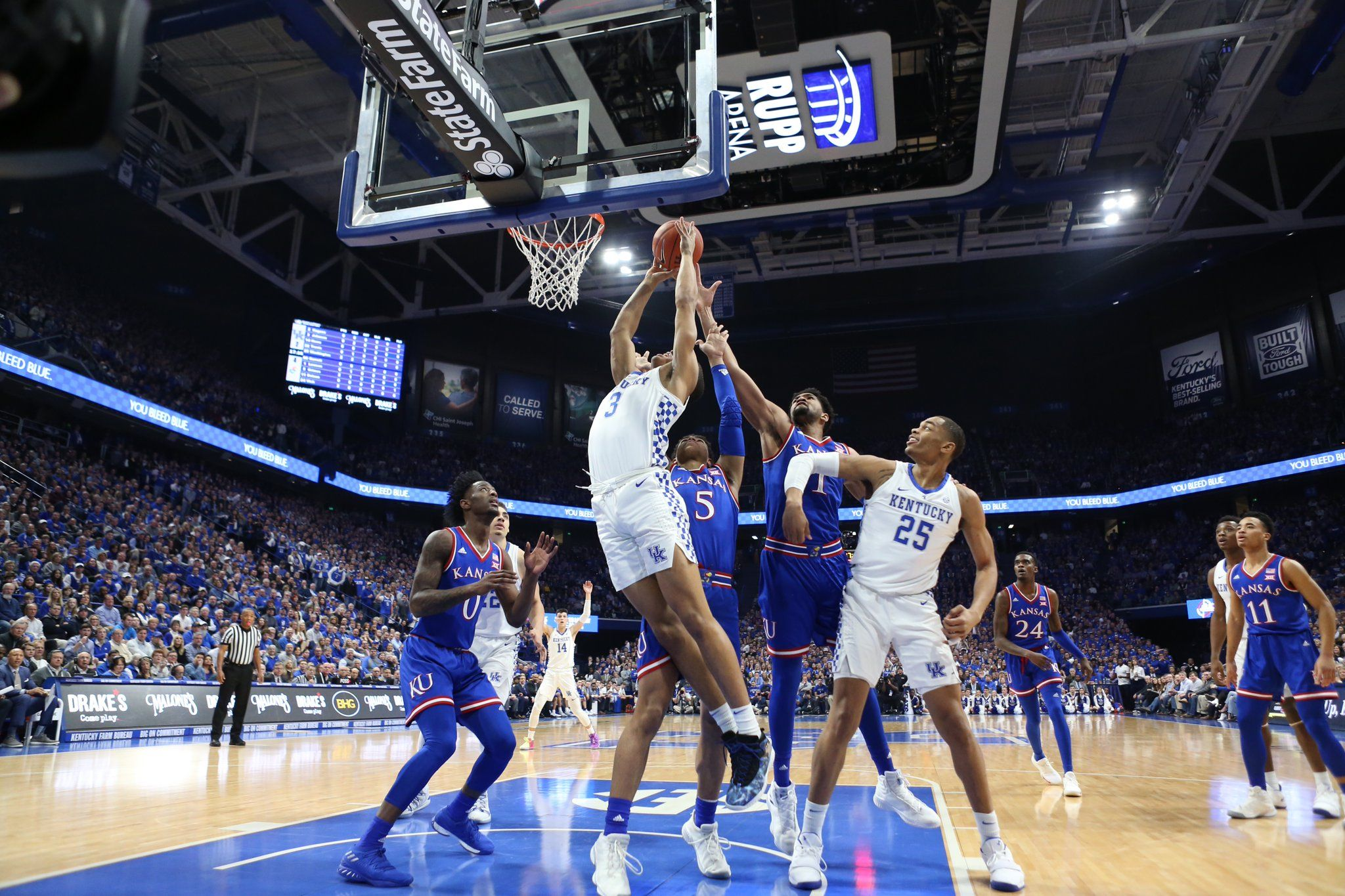It was tough in there tonight kentucky basketball go