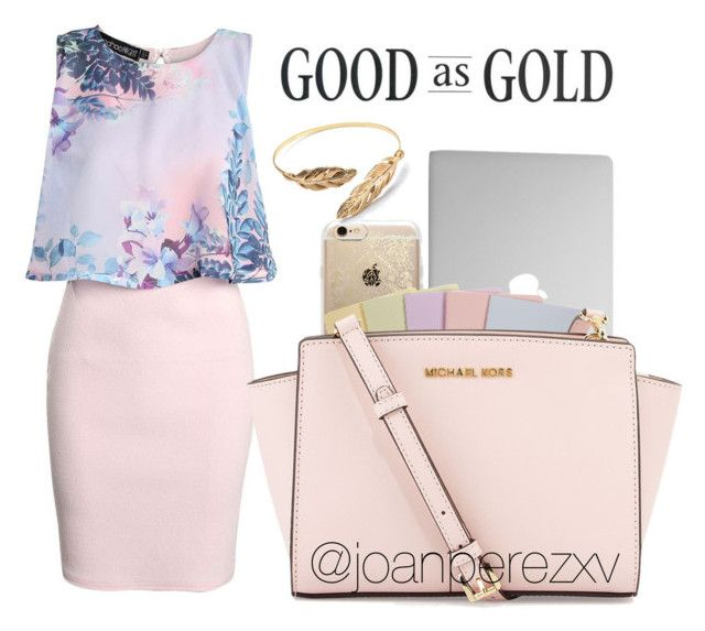 """""""Untitled #146"""" by joanperezxv on Polyvore featuring Rifle Paper Co, Boohoo, Moleskine and MICHAEL Michael Kors"""