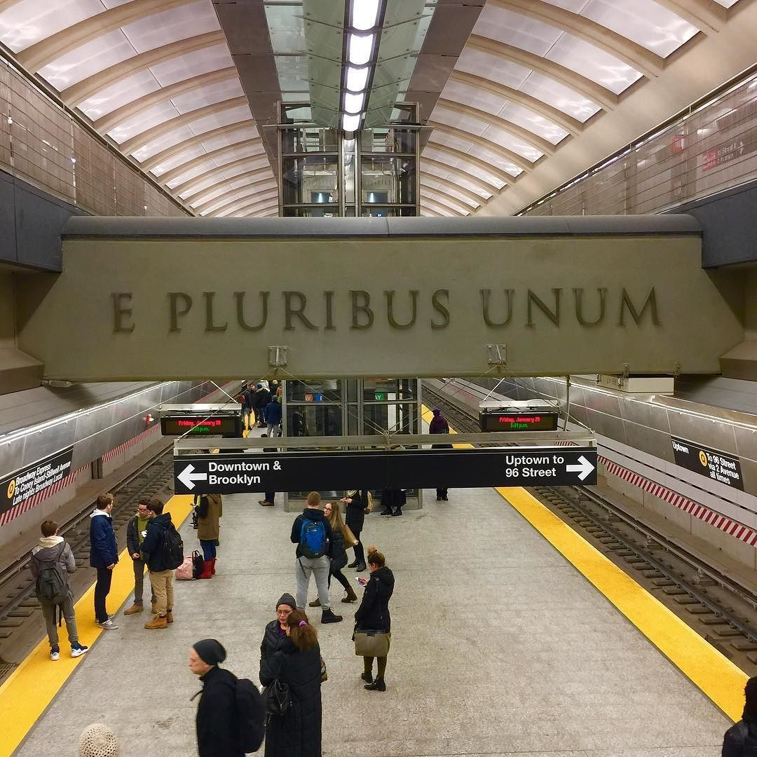 """One from Many - a long time ago there was a plan to create One Subway from Many dollars; and it is so. The new US motto became """"in God we Trust"""" to better reflect the reality of #government"""