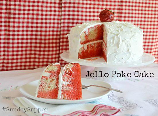 Red and green jello cake recipe