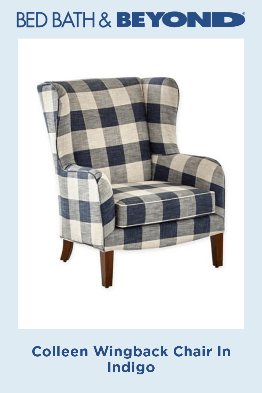 Colleen Wingback Chair Bed Bath Beyond In 2020 Wingback Chair Plaid Living Room Wingback Accent Chair #plaid #chairs #living #room