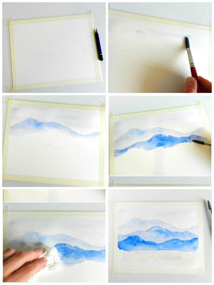 1001 Idees Et Techniques Pour Realiser Une Peinture A L Aquarelle Facile Aquarelle Facile Peinture A L Aquarelle Peintures A L Aquarelle Faciles