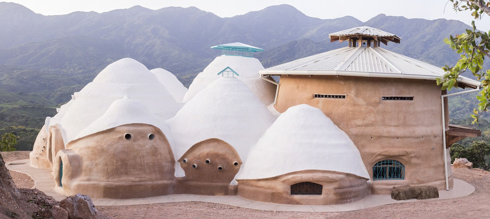 Bioclimatic Dome Home In Costa Rica Built With Nader Khalilis Earth Bag Technique