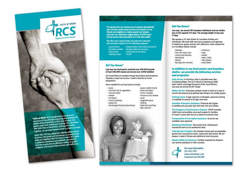 Brochure Design // Religious Community Services // Built Creative