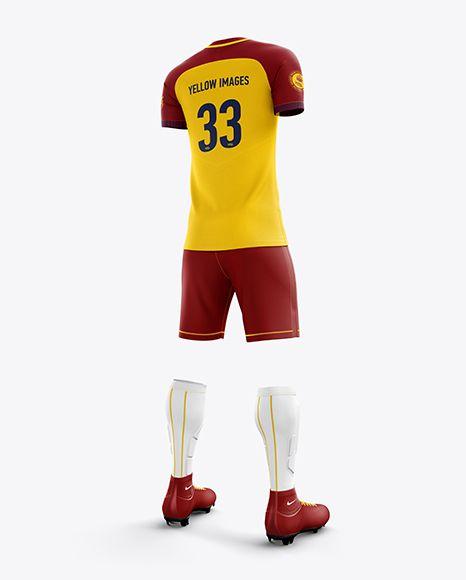 Download Men S Full Soccer Team Kit Mockup Hero Back Shot In Apparel Mockups On Yellow Images Object Mockups Clothing Mockup Design Mockup Free Shirt Mockup