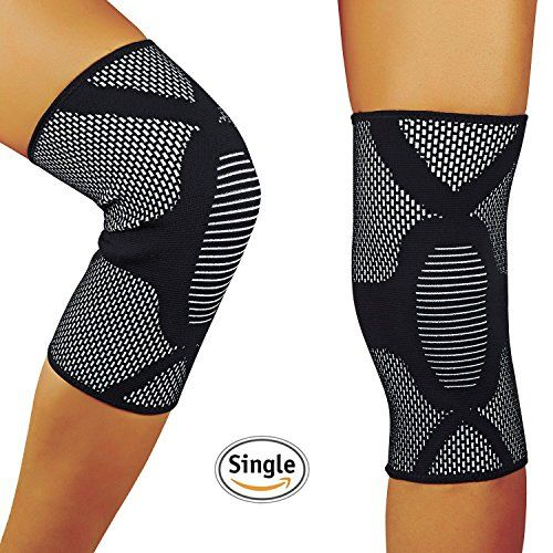 38d63729ee HOFAM Knee Brace Compression, Breathable Knee Sleeve for Running Jogging  Basketball Workout Sports - For Men and Women - Relieves ACL LCL MCL -  Single(L) ...