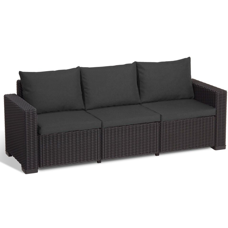 buy allibert california 3 seater sofa graphite grey from our rattan garden furniture range at tesco direct - Rattan Garden Furniture Tesco