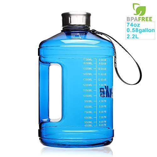 Sluxke 1 Gallon Water Bottle Leakproof Bpa Free Fitness Sports Water Jug Hydration With D In 2020 Big Water Bottle Water Bottle Bottle