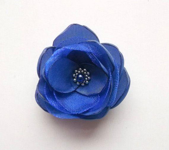 wedding hair clip,dressy girl hair clip blue Royal Blue hair clip  flower girl hair clip blue hair piece bridesmaid hair clip royal blue
