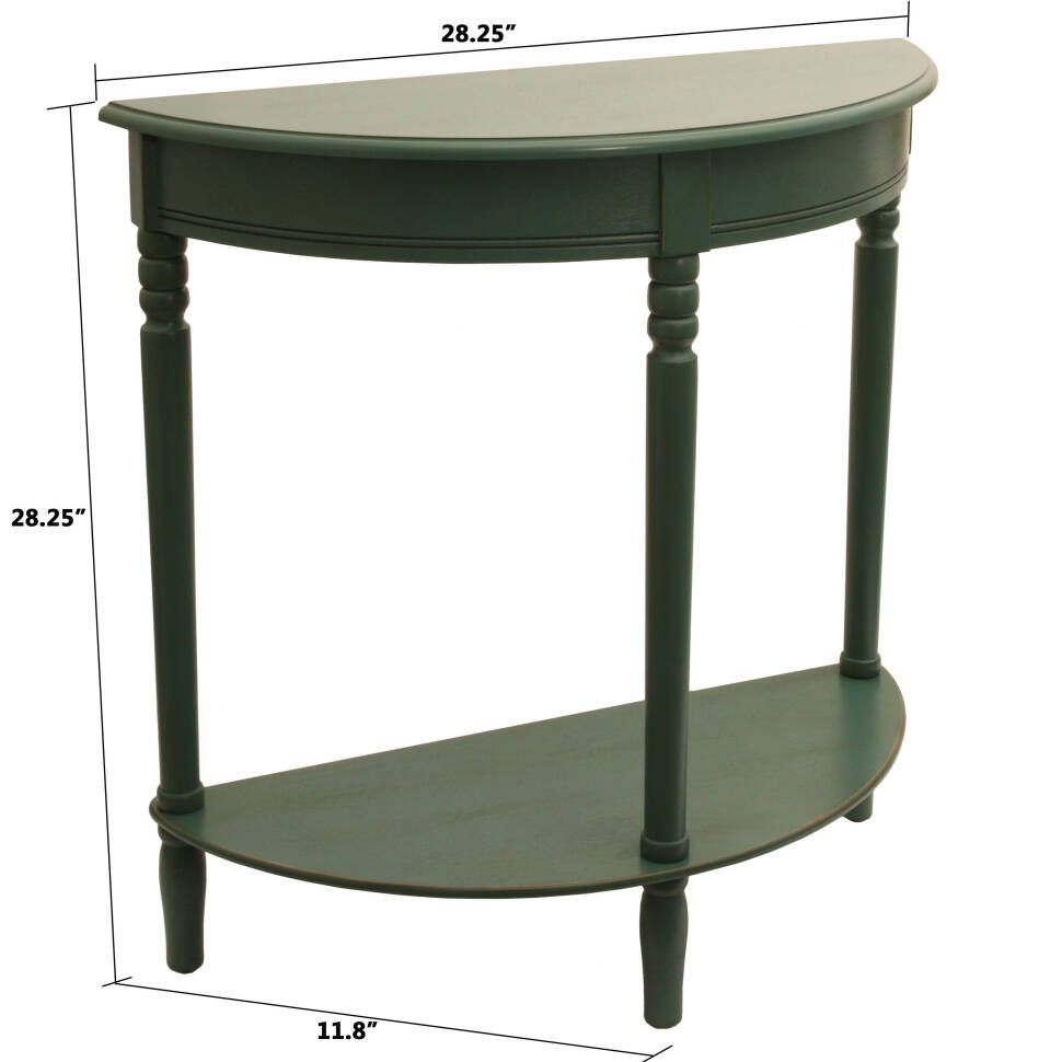 Hadenson 28 Solid Wood Console Table Round Accent Table Half