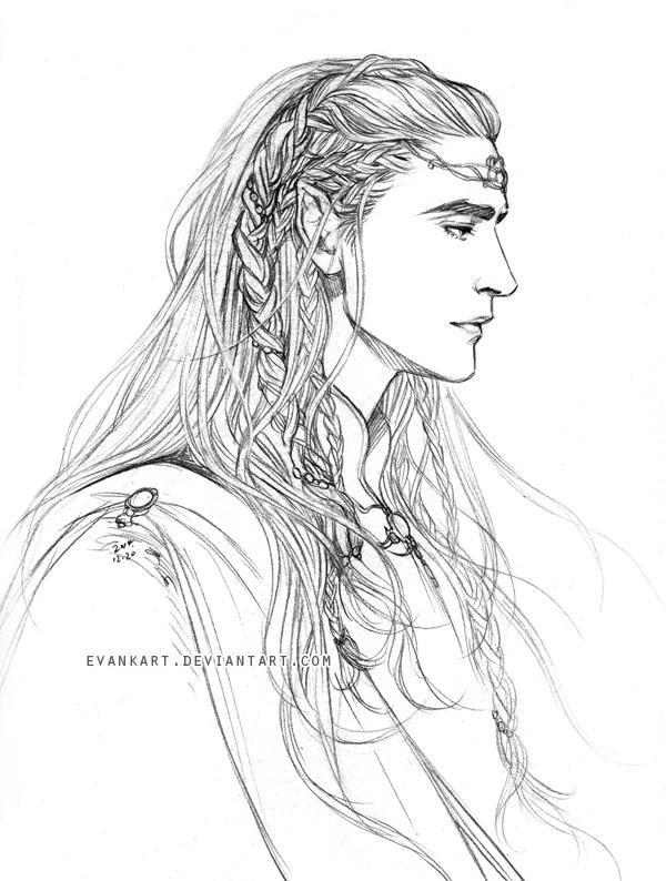 Elu Thingol by evankart | Наброски, Фэнтези рисунки, Толкин