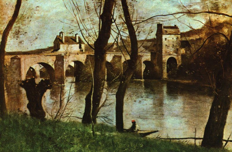 The Bridge At Nantes 1870 By Camille Corot Realism Landscape