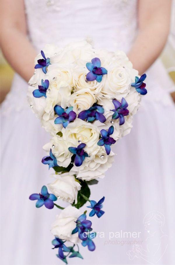 Wedding Bouquet Flowers Blue Purple White Clara Palmer Photographer Brisbane By Lucila Sanchez