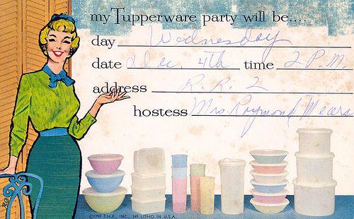 Tupperware Party Postcard – Tupperware Party Invitation