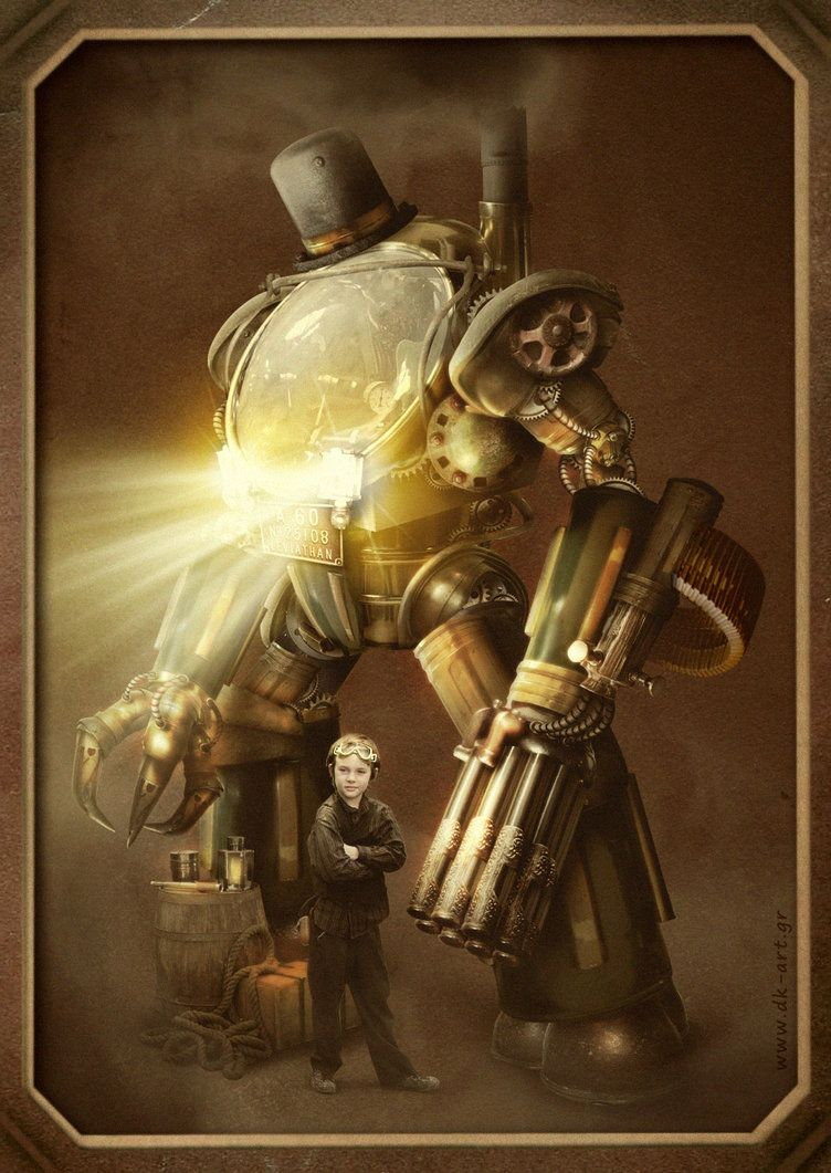 Steampunk Fantasy Nothing Is More Heartwarming Than A Boy And His