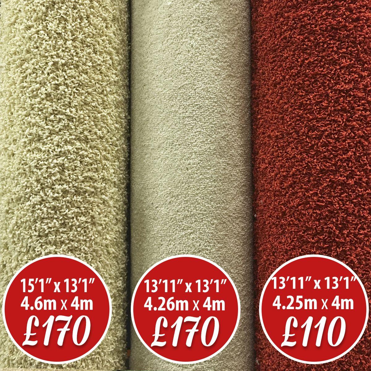 Carpet ROLL END SALE Cream Shaggy Carpet 46m x 4m 151 x