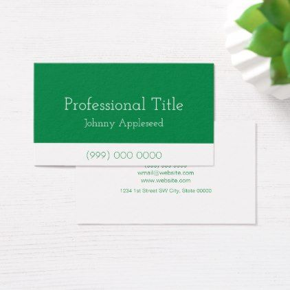 Professional Business Card (Green) - business invitations templates