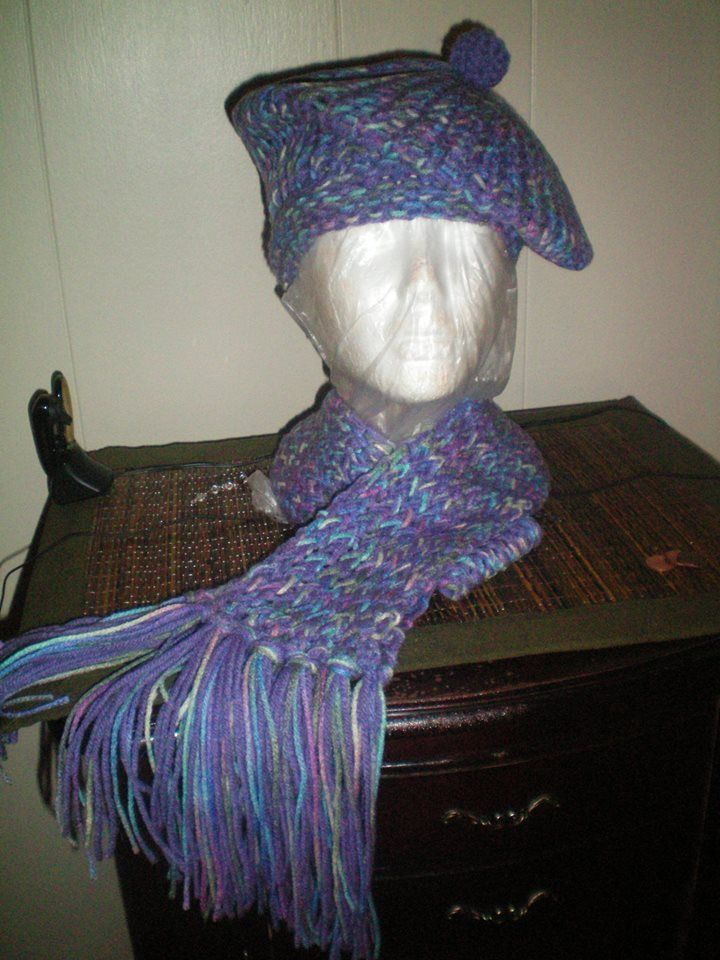 Beret and Scarf.....I need a new head