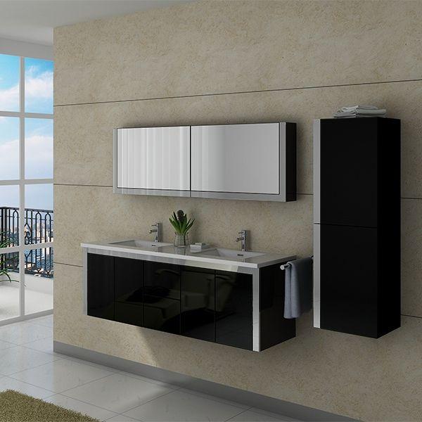dis025 1500n meuble salle de bain noir