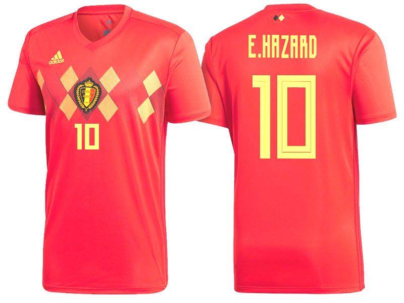 more photos 83ea9 03fe5 2018 Belgium Soccer Jersey eden hazard | 2018 Belgium World ...