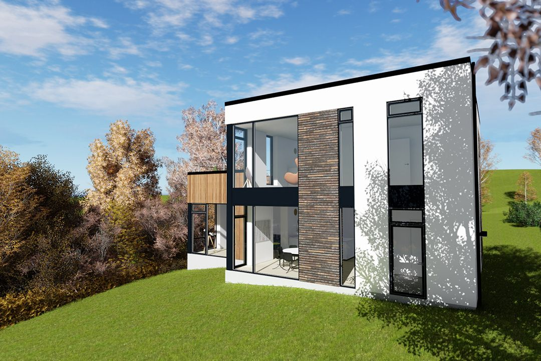 Fredericia 2 m2plus m2concept arkitekttegnet for Funkis house