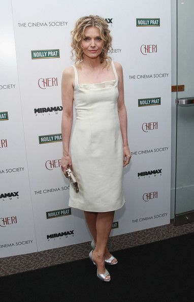 Simple white dress with silver open toe shoes and clutch -  stunning vision in white.