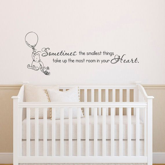 Classic Winnie The Pooh Wall Decals Quotes Sometimes The Smallest Things   Winnie The Pooh And Part 35