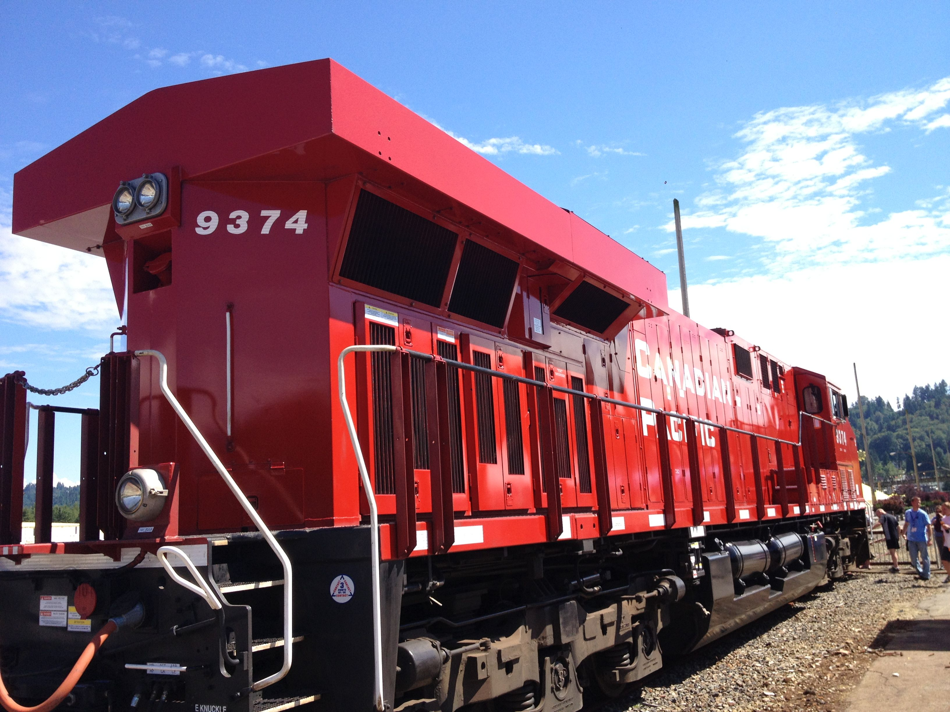 GE AC4400 at PCT, Port Moody, Canada Day Weekend Port