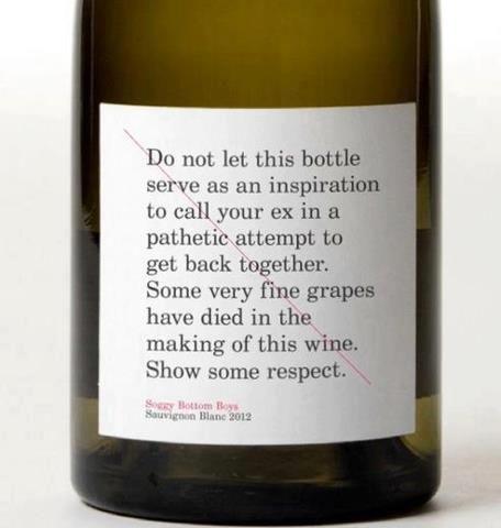 RESPECT  the wine.