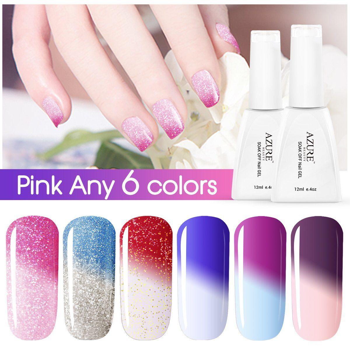 Azure Beauty Soak-off Chameleon Nail Polish UV LED Gel Pick Any 6 ...