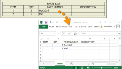 Use Excel Api To Export Partslist Content Autodesk Inventor