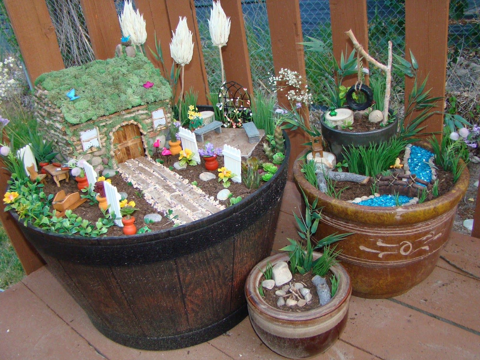 How To Make A Fairy Garden Goes Through Step By Step