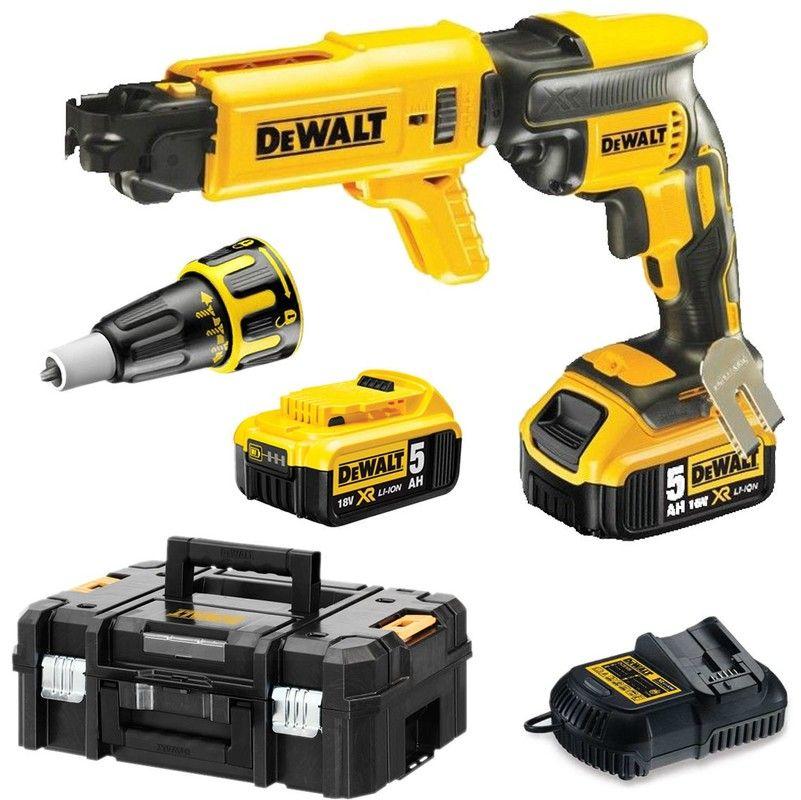 Dewalt Dcf620p2k Visseuse Plaques De Platre A Batteries 18v Li Ion 2x Batterie 5 0ah Dans Tstak Moteur Sans Charbon In 2020 Drill Tools