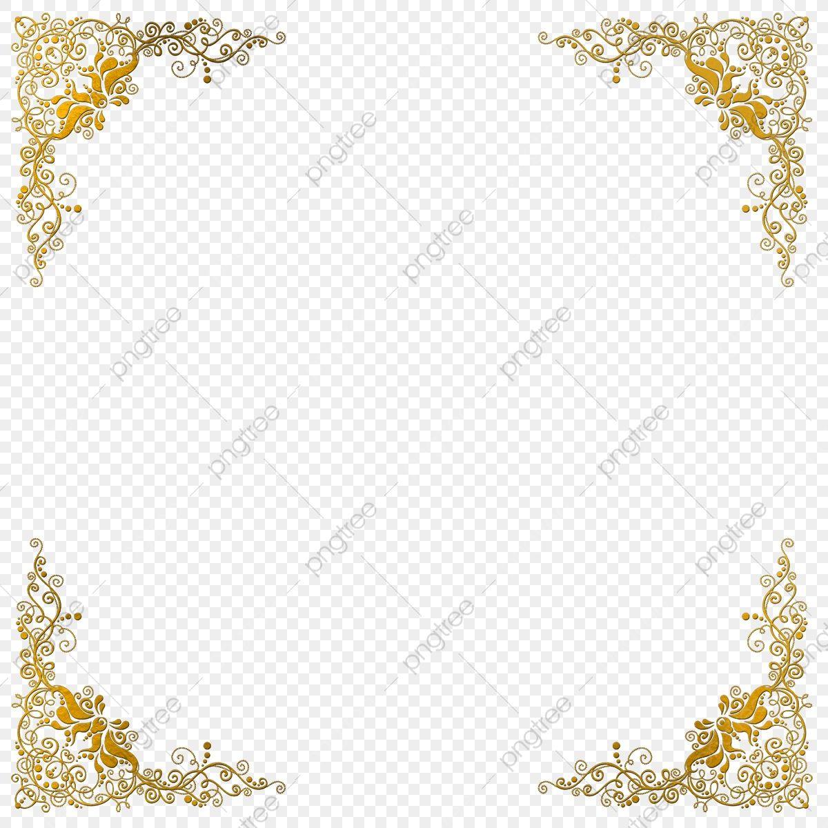 Elegant Golden Frame Design Elegant Golden Png Transparent Clipart Image And Psd File For Free Download In 2021 Frame Clipart Clip Art White Square Frame