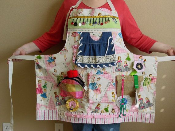 RESERVED LISTING  Busy Lady's  Fidget Apron by EndearingDignite, $40.00