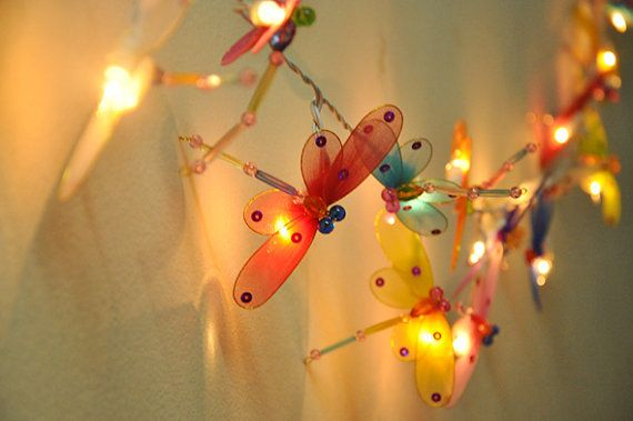 Colourful Dragonfly String Lights For Party Wedding Decor By Ginew